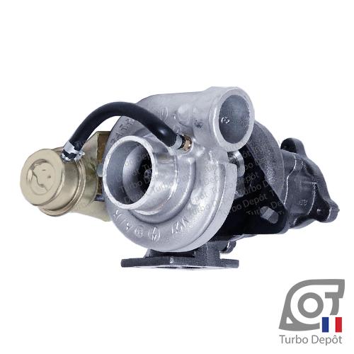 Turbo TR10196L pour GARRETT 465247-0001 face 1, sur CITROEN C25 (1987 à 1994) DIESEL 2.5 D 95cv et PEUGEOT J5 (1987 à 1994) DIESEL 2.5 D 95cv