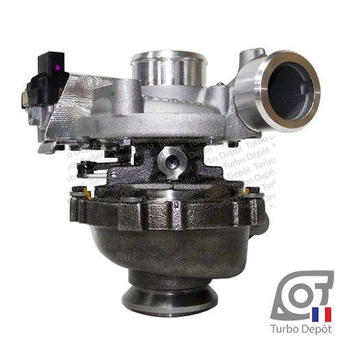 Turbo TR11187Z pour GARRETT 762463-0002, face 1 sur OPEL ANTARA (2006 à 2014) 2.0 CDTi 126/150cv et CHEVROLET CAPTIVA (2006 à 2018) 2.0 16V VCDI 126/147cv