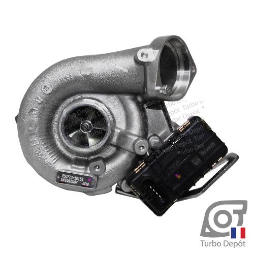 Turbo TR11188A pour GARRETT 750773-0015 et 750773-0017 face 1, sur BMW 330d (E46) (1998 à 2007) 3.0 DIESEL 204cv