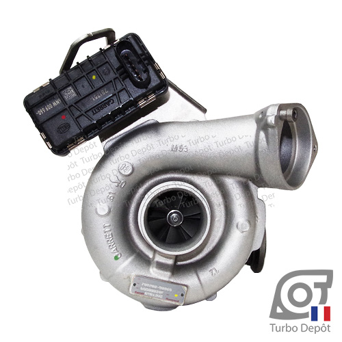 Turbo TX11201W pour GARRETT 758352 face 1, sur BMW 325d (E90/E91/E92/E93) (2005-2012) 3.0 DIESEL 197cv et BMW 330d (E90/E91/E92/E93) (2005-2012) 3.0 DIESEL 231cv