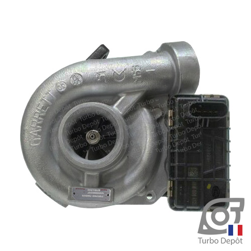 Turbo TX11217U pour GARRETT 743115-0001, 741115-0003, face 1, sur MERCEDES E280 (2002 à 2009) DIESEL CDI 177cv, E320 (2002 à 2009) DIESEL CDI 204cv et S320 (1998 à 2005) DIESEL CDI 204cv
