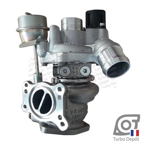 Turbo TR20021D pour BORGWARNER 5303-970-0104, 5303-970-0120, 5303-970-0121, 5303-970-0179, 5303-970-0217, 5303-970-0243 et 5303-970-0425, face 2, sur CITROEN C5 (2008-2017) 1.6 THP 150/156cv, CITROEN DS3 (2010-2016) 1.6 THP 150/156cv, CITROEN DS4 (2011-2015) 1.6 THP 156/163cv, CITROEN DS5 (2011-2015) 1.6 THP 156cv et PEUGEOT 207 (2006-2012) 1.6 Turbo 16v 150/156cv