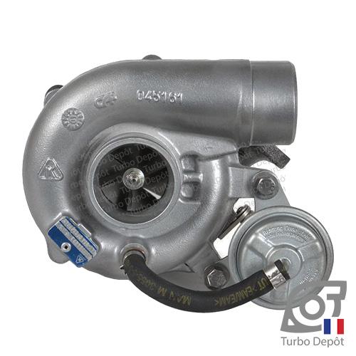 Turbo TR10226E pour BORGWARNER 5303-970-0115 et 5303-970-0116, face 1, sur FIAT DUCATO (2006 à 2018) DIESEL 2.3 D 100/110/120/130cv