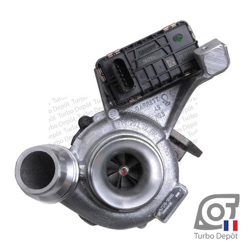 Turbo TR11137A pour GARRETT 767378-0005, 767378-0006, 767378-0013 et 767378-0014 face 1, sur BMW 116d (E81/E87/E88) (2004 à 2011) 2.0 DIESEL 116cv, BMW 118d (E81/E87/E88) (2004 à 2011) 2.0 DIESEL 136/143cv et BMW 318d (2005 à 2012) 2.0 DIESEL 136/143cv