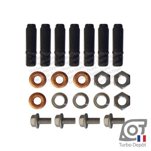 Lot Visserie Boulonnerie BL223B pour turbo BORGWARNER 5303-970-0182, 5303-970-0210, 5303-970-0231, 5303-970-0337 et 5303-970-0339