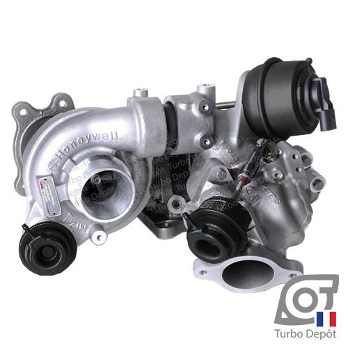 Turbo TR10088C pour GARRETT 810358 face 1, sur MAZDA 3 (2013 à 2018) DIESEL 2.2 D 150cv, MAZDA 6 (2012 à ce jour) DIESEL 2.2 D 150/175cv, MAZDA CX-5 I (2012 à 2017) DIESEL 2.2 D 150/175cv et MAZDA CX-5 II (2017 à ce jour) DIESEL 2.2 D 150/175cv