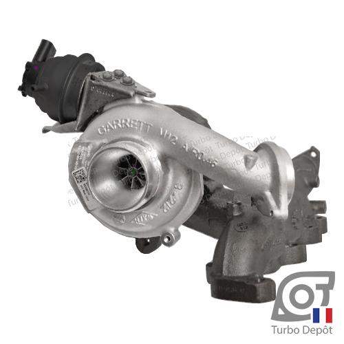 Turbo TR11250T pour GARRETT 873767-5001S, face 1 sur VOLKSWAGEN TRANSPORTER T6 (2015 à ce jour) et MULTIVAN T6 (2015 à ce jour) moteurs DIESEL 2.0 TDI 114/150cv