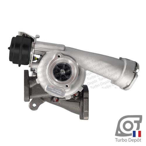 Turbo TR11258C pour GARRETT 729325 face 1, sur VW VOLKSWAGEN VAG TRANSPORTER (2003-2015) DIESEL 2.5 TDI 130cv et MULTIVAN (2003-2015) DIESEL 2.5 TDI 130cv